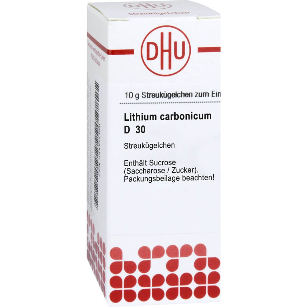 LITHIUM CARBONICUM D 30 Globuli