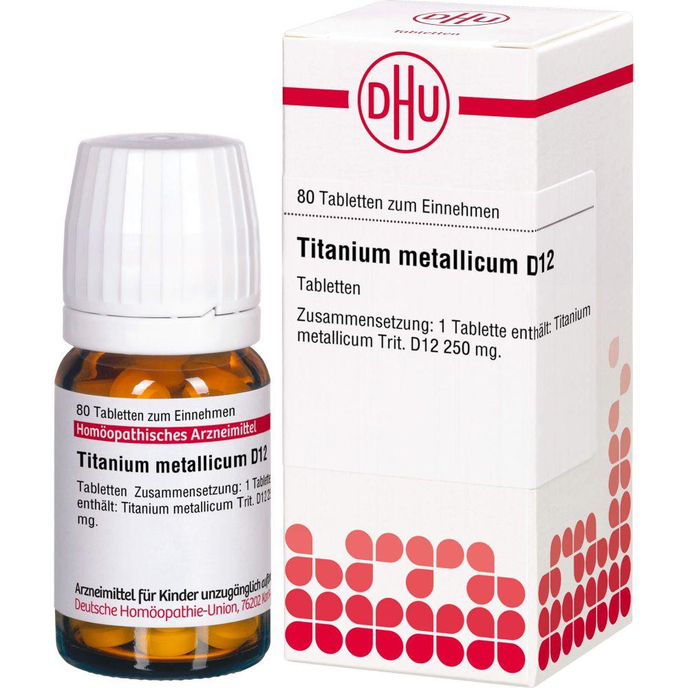 TITANIUM METALLICUM D 12 Tabletten