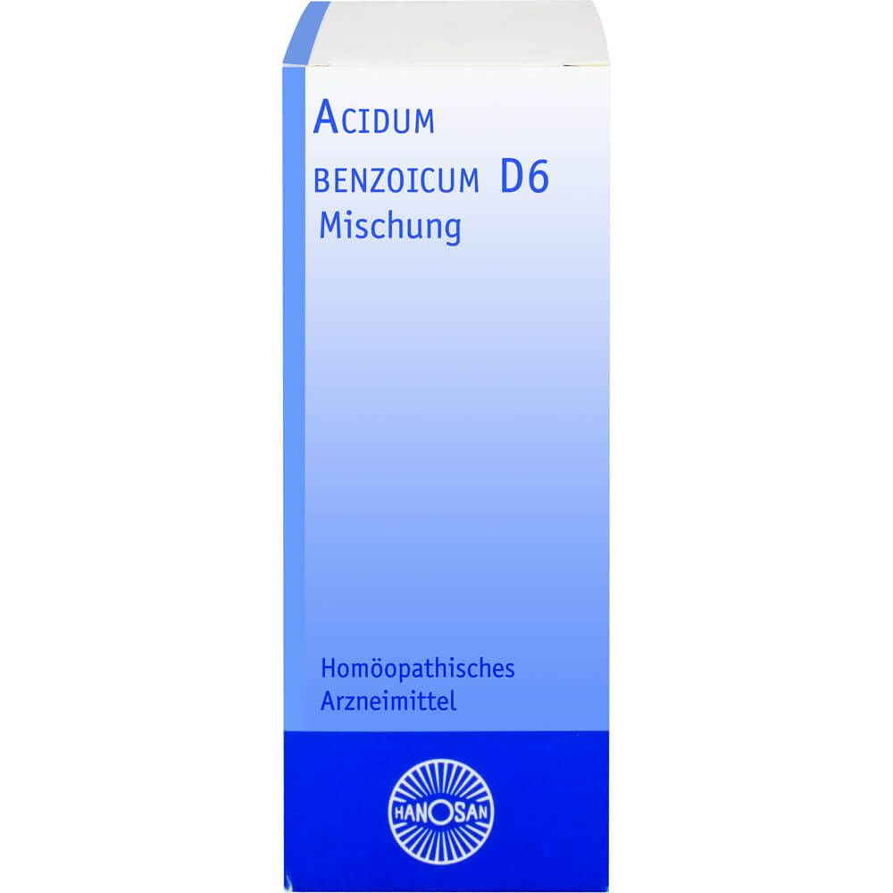ACIDUM BENZOICUM D 6 Hanosan Dilution