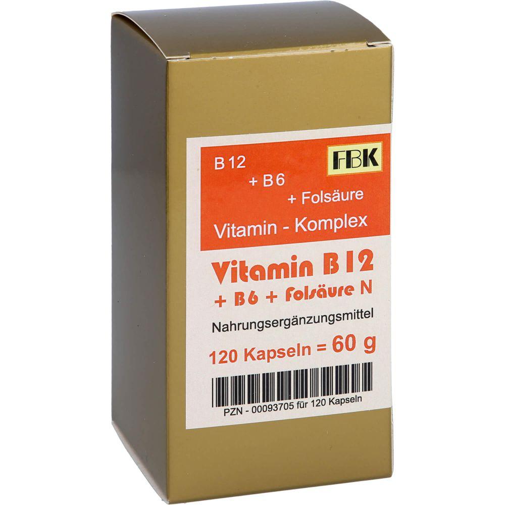 VITAMIN B12+B6+Folsäure Komplex N Kapseln