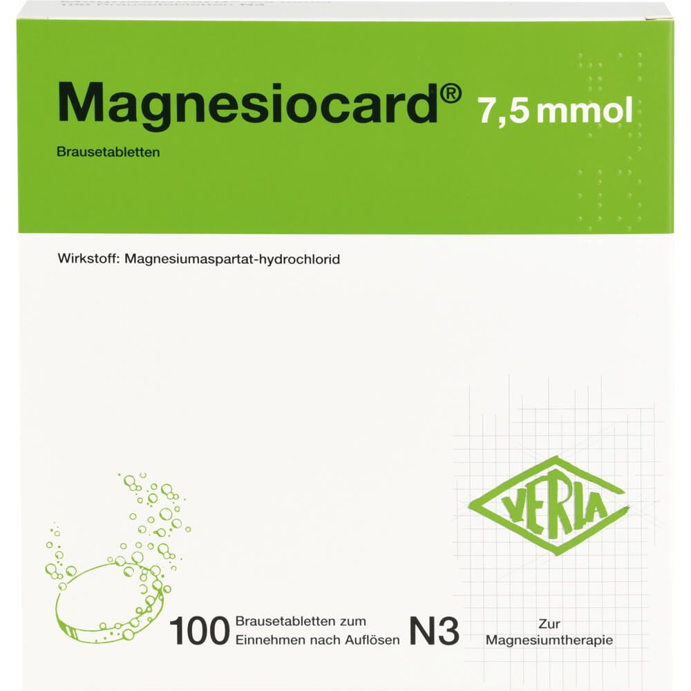 MAGNESIOCARD 7,5 mmol Brausetabletten