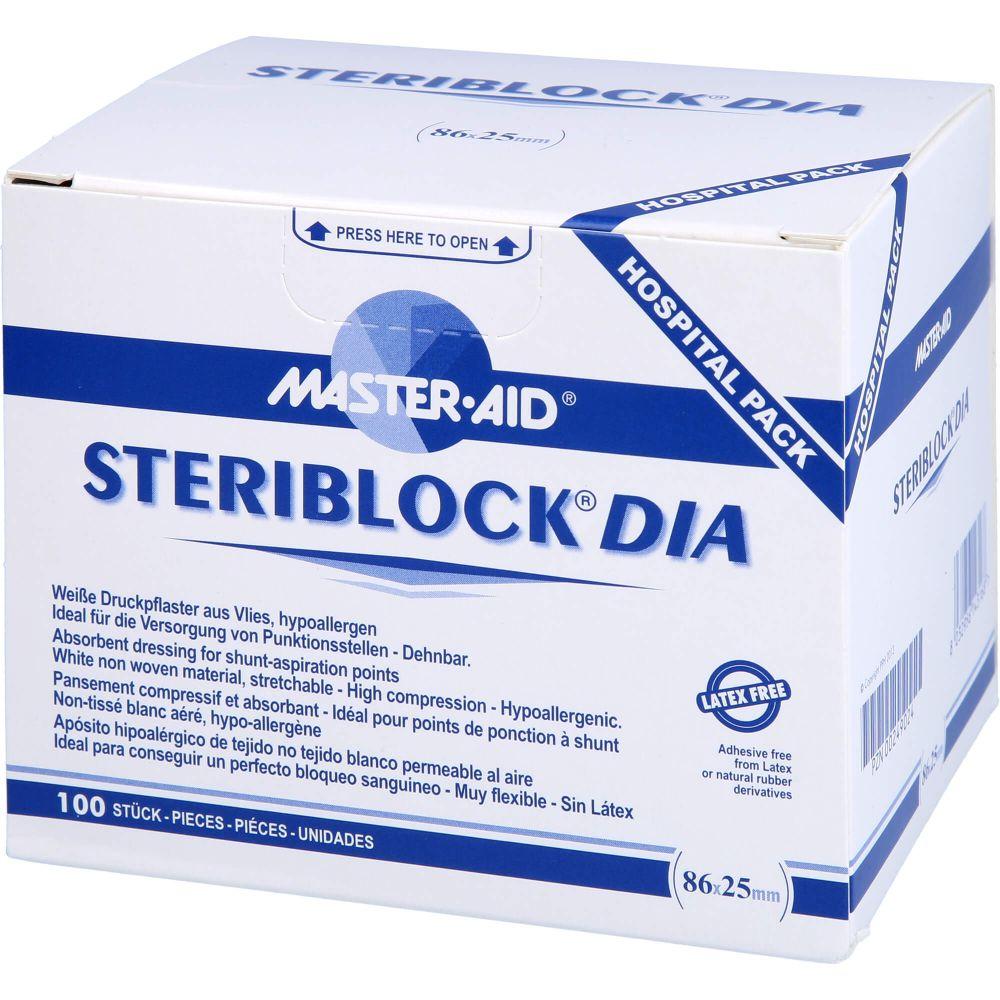 STERIBLOCK DIA 25x86 mm Kompressionspfl.ster.weiß