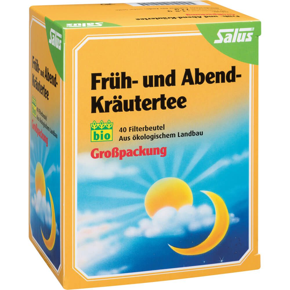 FRÜH- UND ABEND-Kräutertee Bio Salus Filterbeutel