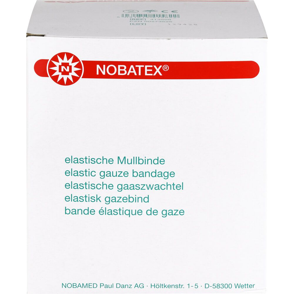 NOBATEX Mullbinden elastisch 8 cmx4 m