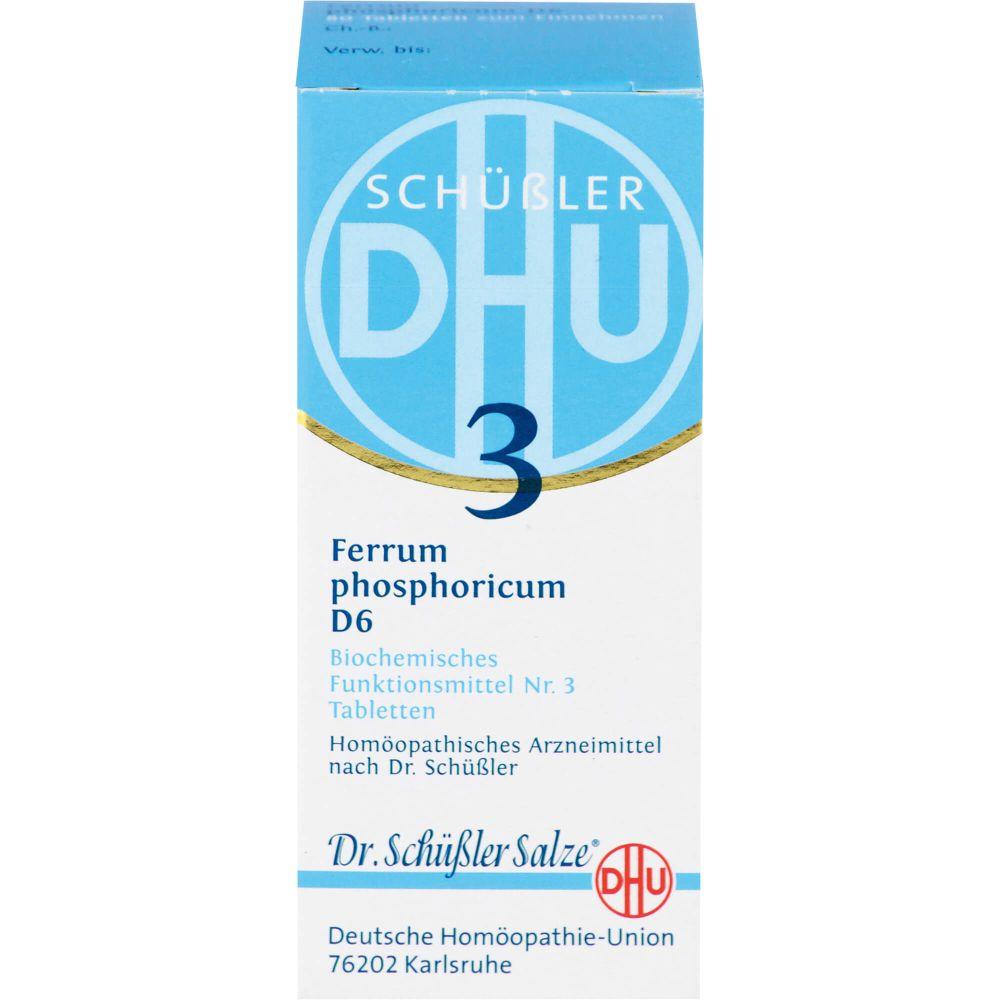 BIOCHEMIE DHU 3 Ferrum phosphoricum D 6 Tabletten