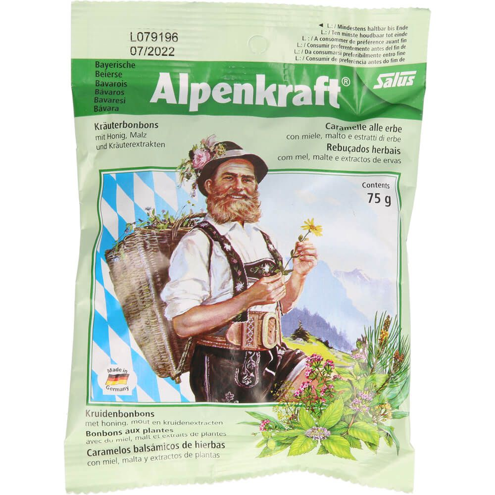 ALPENKRAFT Kräuterbonbons mit Honig+Malz Salus