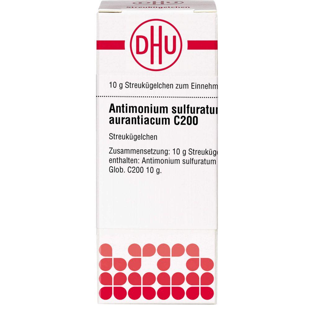 ANTIMONIUM SULFURATUM aurantiacum C 200 Globuli