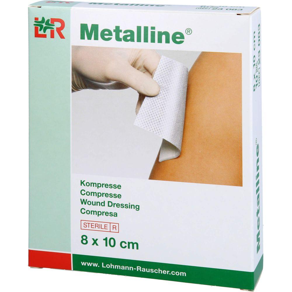 METALLINE Kompressen 8x10 cm steril