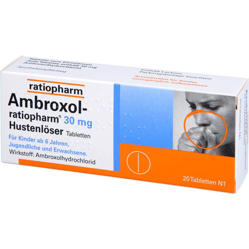 AMBROXOL-ratiopharm 30 mg Hustenlöser Tabletten