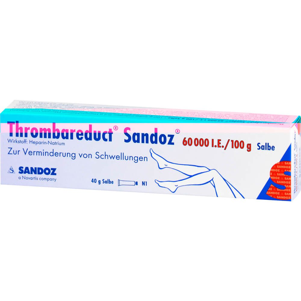 THROMBAREDUCT Sandoz 60.000 I.E. Salbe