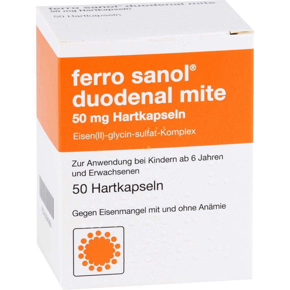 FERRO SANOL duodenal mite 50 mg magensaftr.Hartk.