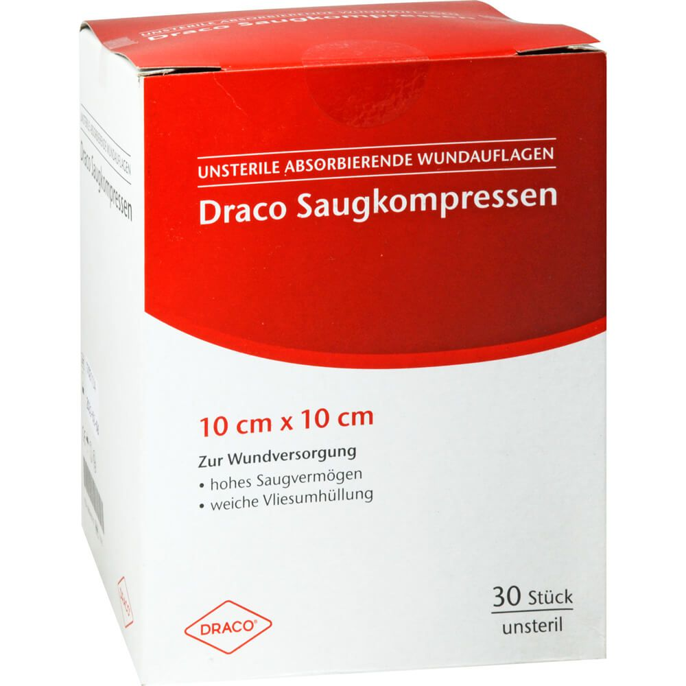 SAUGKOMPRESSEN unsteril 10x10 cm Draco