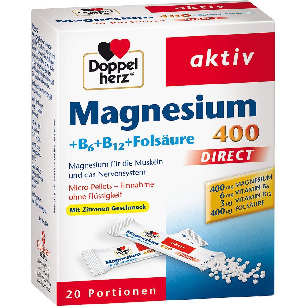 DOPPELHERZ Magnesium+B Vitamine DIRECT Pellets