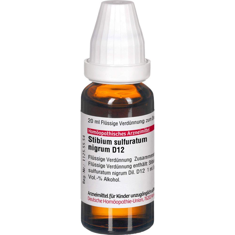 STIBIUM SULFURATUM NIGRUM D 12 Dilution