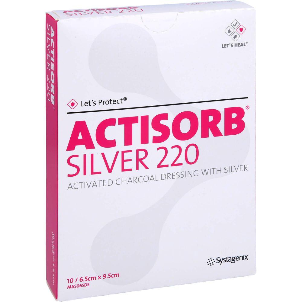 ACTISORB 220 Silver 6,5x9,5 cm steril Kompressen
