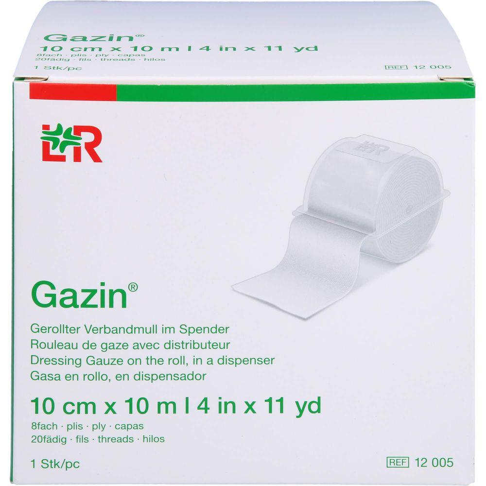 GAZIN Verbandmull 10 cmx10 m 8fach
