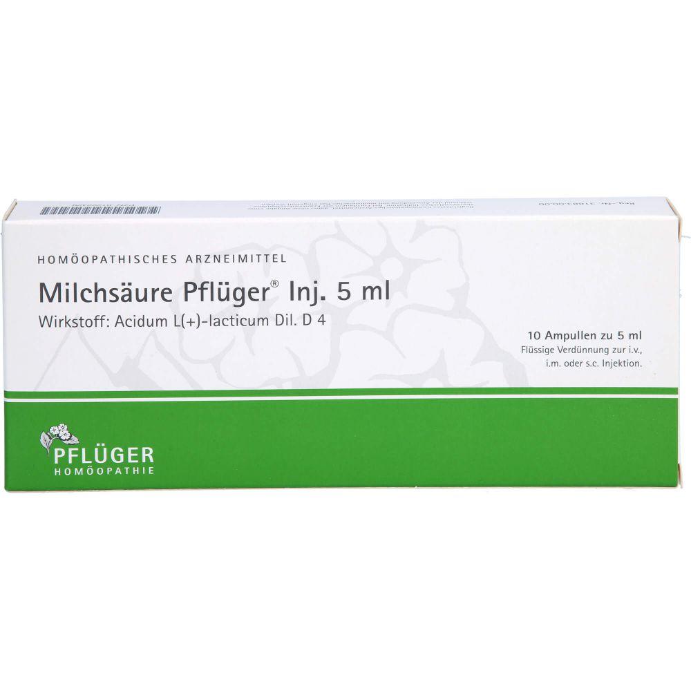 MILCHSÄURE Pflüger Injektionslösung 5 ml
