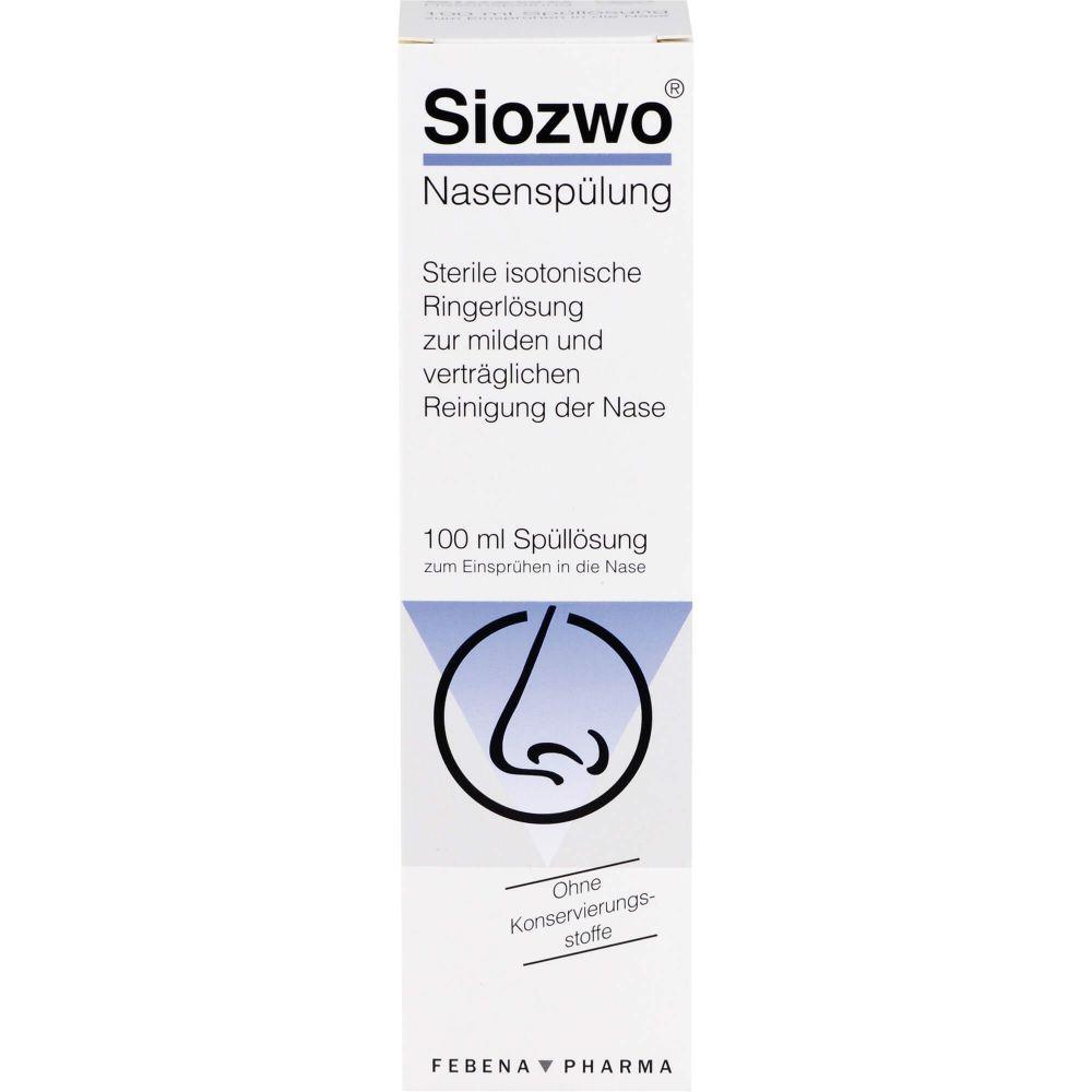 SIOZWO Nasenspülung Konservierungsstofffrei