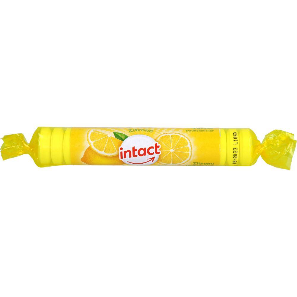 INTACT Traubenzucker Rolle Zitrone