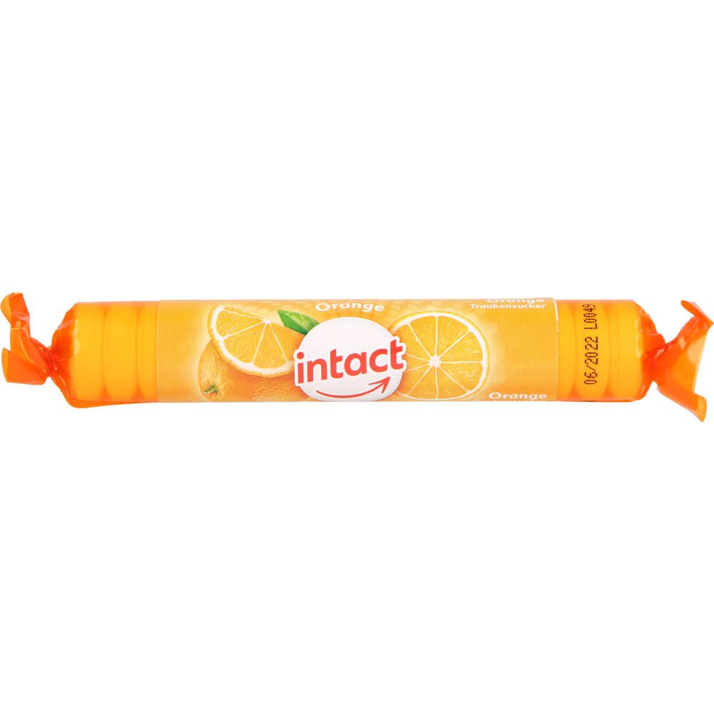 INTACT Traubenzucker Rolle Orange
