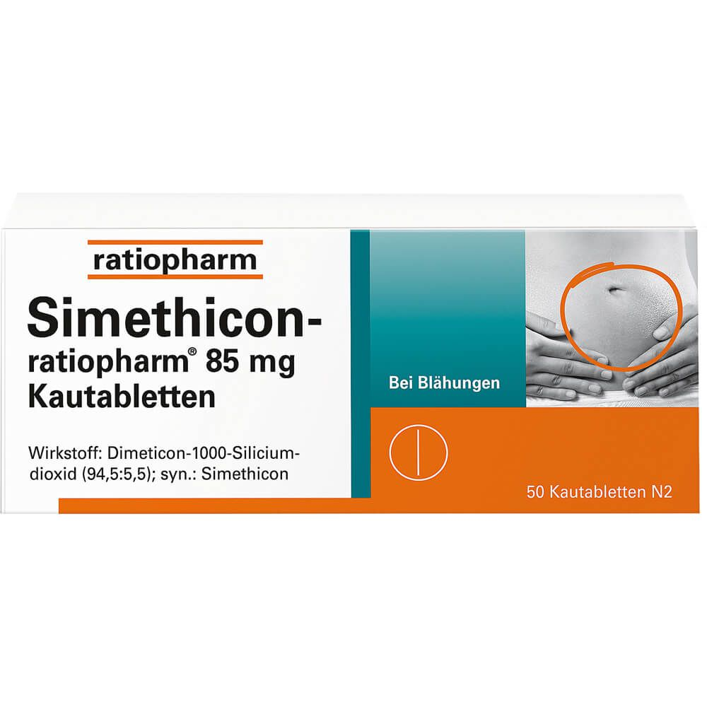 SIMETHICON-ratiopharm 85 mg Kautabletten