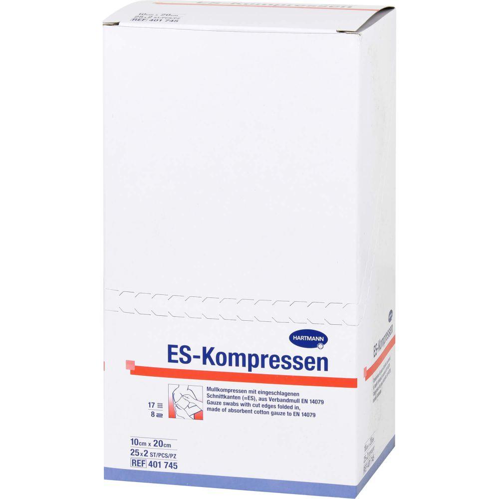 ES-KOMPRESSEN steril 10x20 cm 8fach