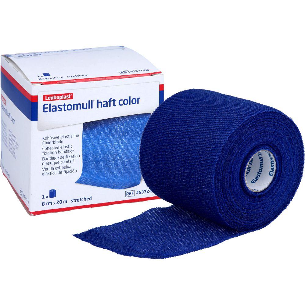 ELASTOMULL haft color 8 cmx20 m Fixierb.blau