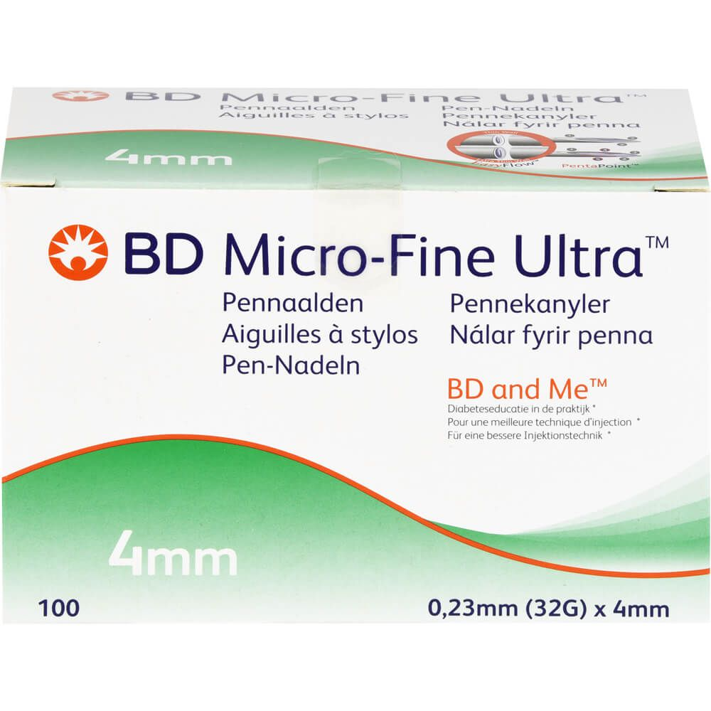 BD MICRO-FINE ULTRA Pen-Nadeln 0,23x4 mm CPC
