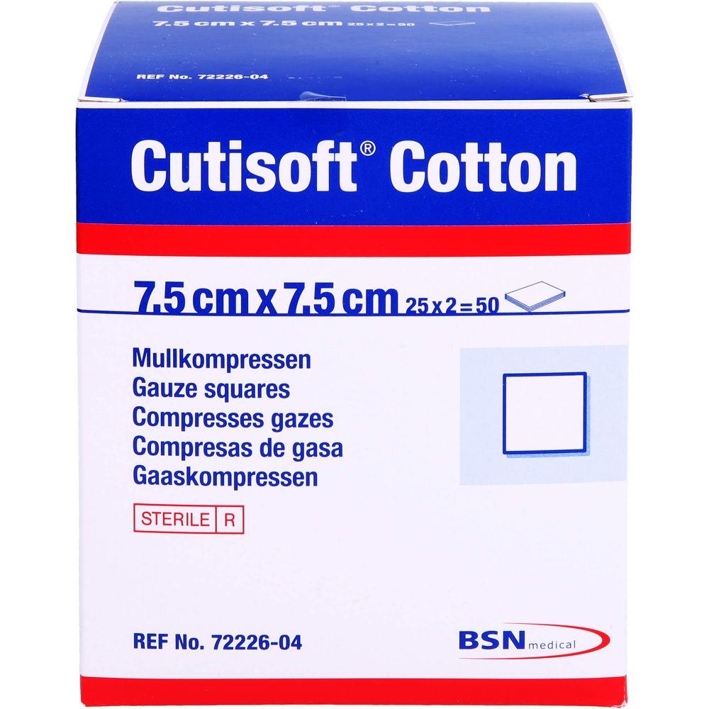 CUTISOFT Cotton Kompr.7,5x7,5 cm steril