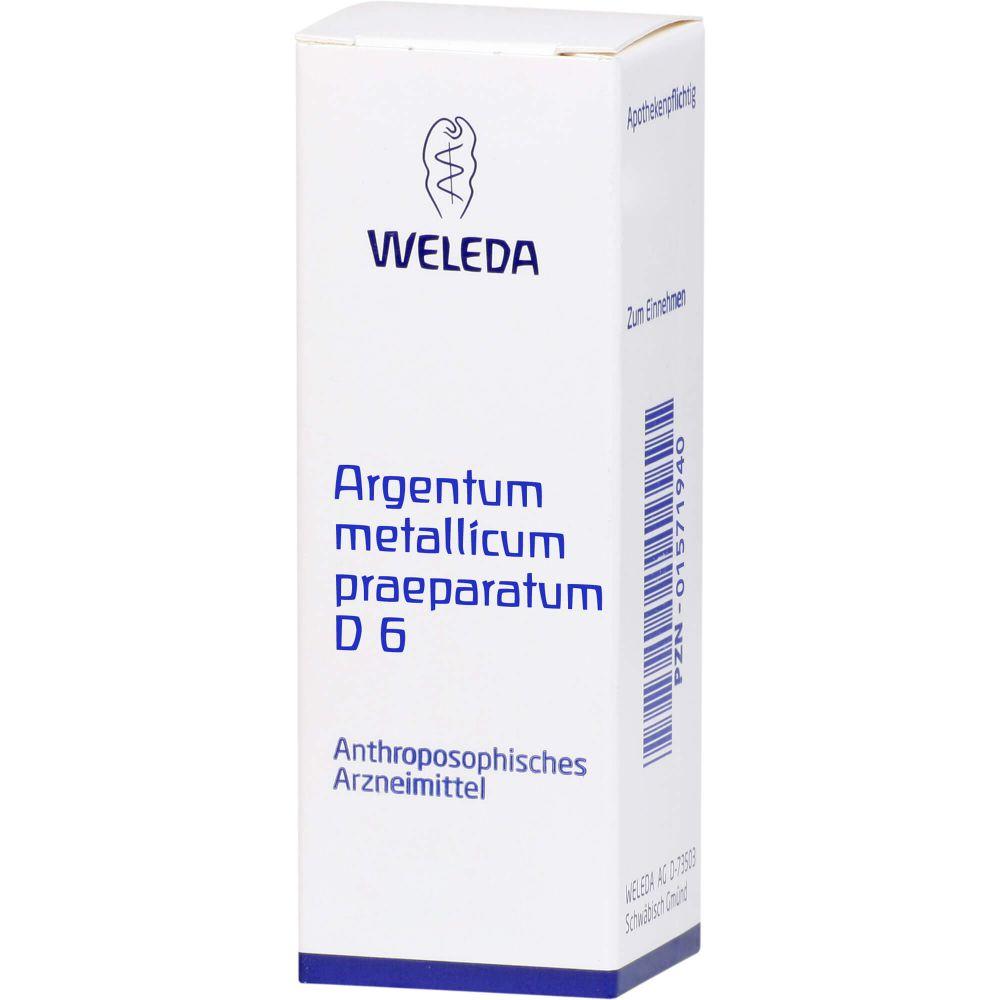 ARGENTUM METALLICUM praeparatum D 6 Trituration