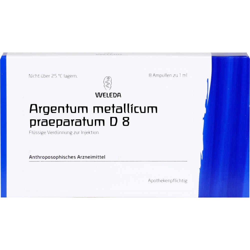 ARGENTUM METALLICUM praeparatum D 8 Ampullen