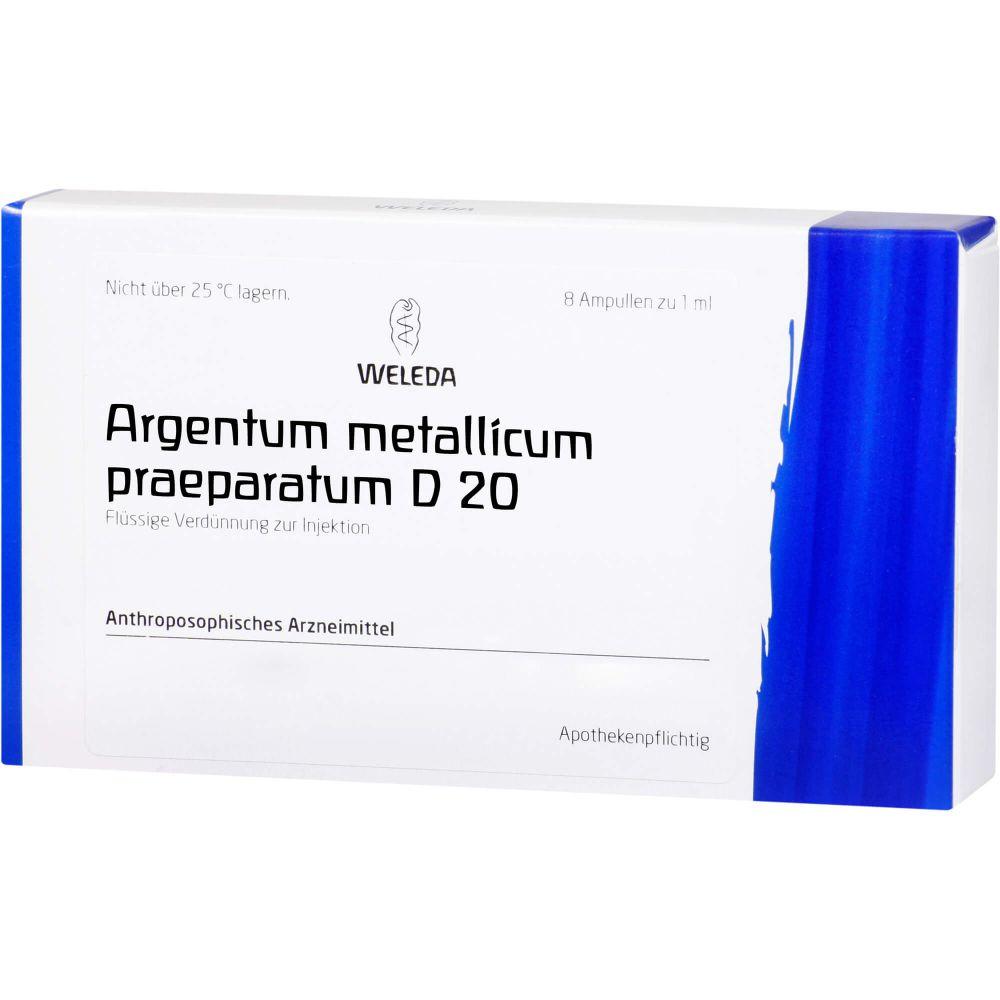 ARGENTUM METALLICUM praeparatum D 20 Ampullen