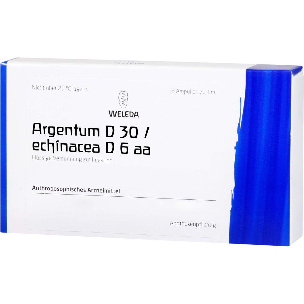 ARGENTUM D 30/ECHINACEA D 6 aa Ampullen