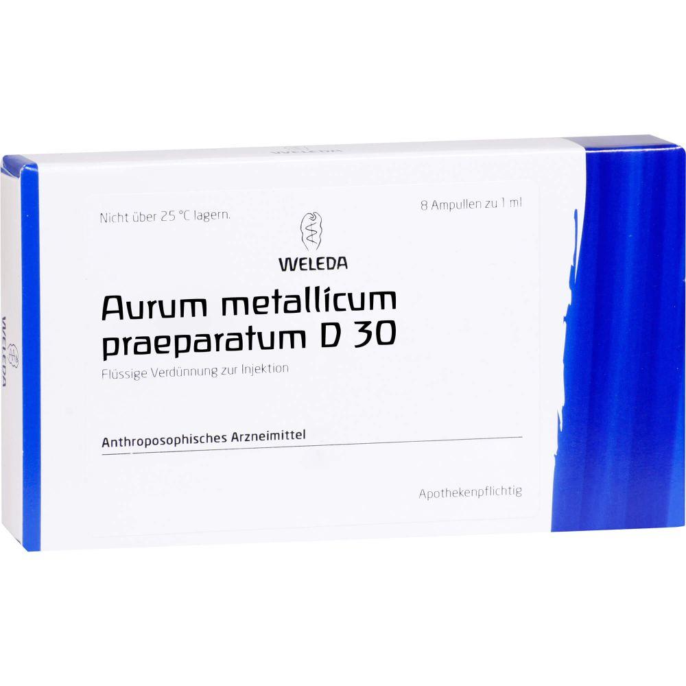 AURUM METALLICUM PRAEPARATUM D 30 Ampullen