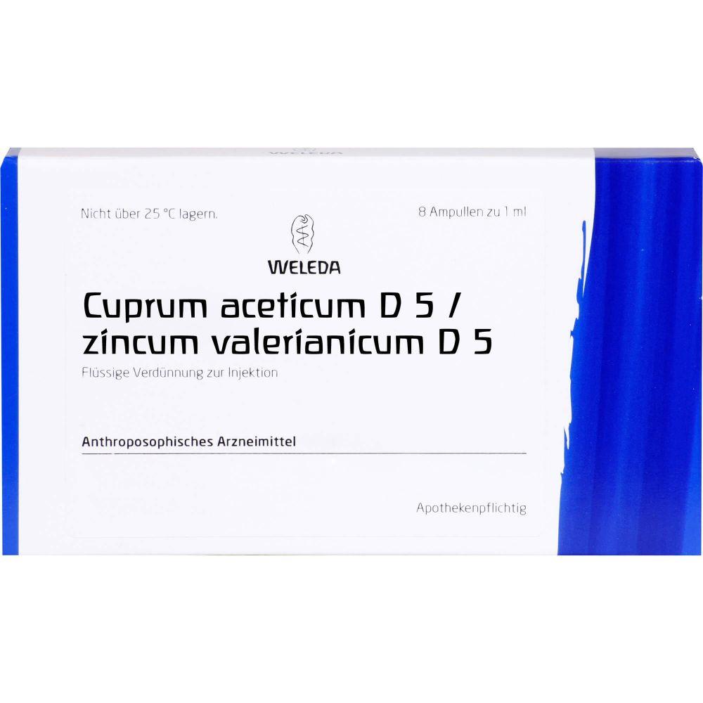 CUPRUM ACETICUM D 5/Zincum valerianic.D 5 aa Amp.