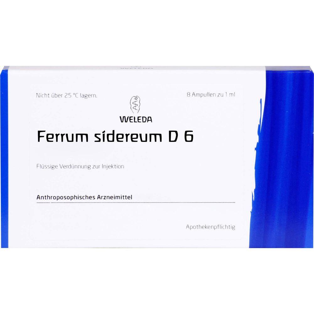 FERRUM SIDEREUM D 6 Ampullen