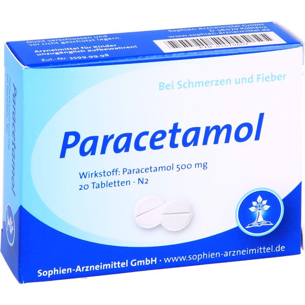 PARACETAMOL Sophien 500 Tabletten