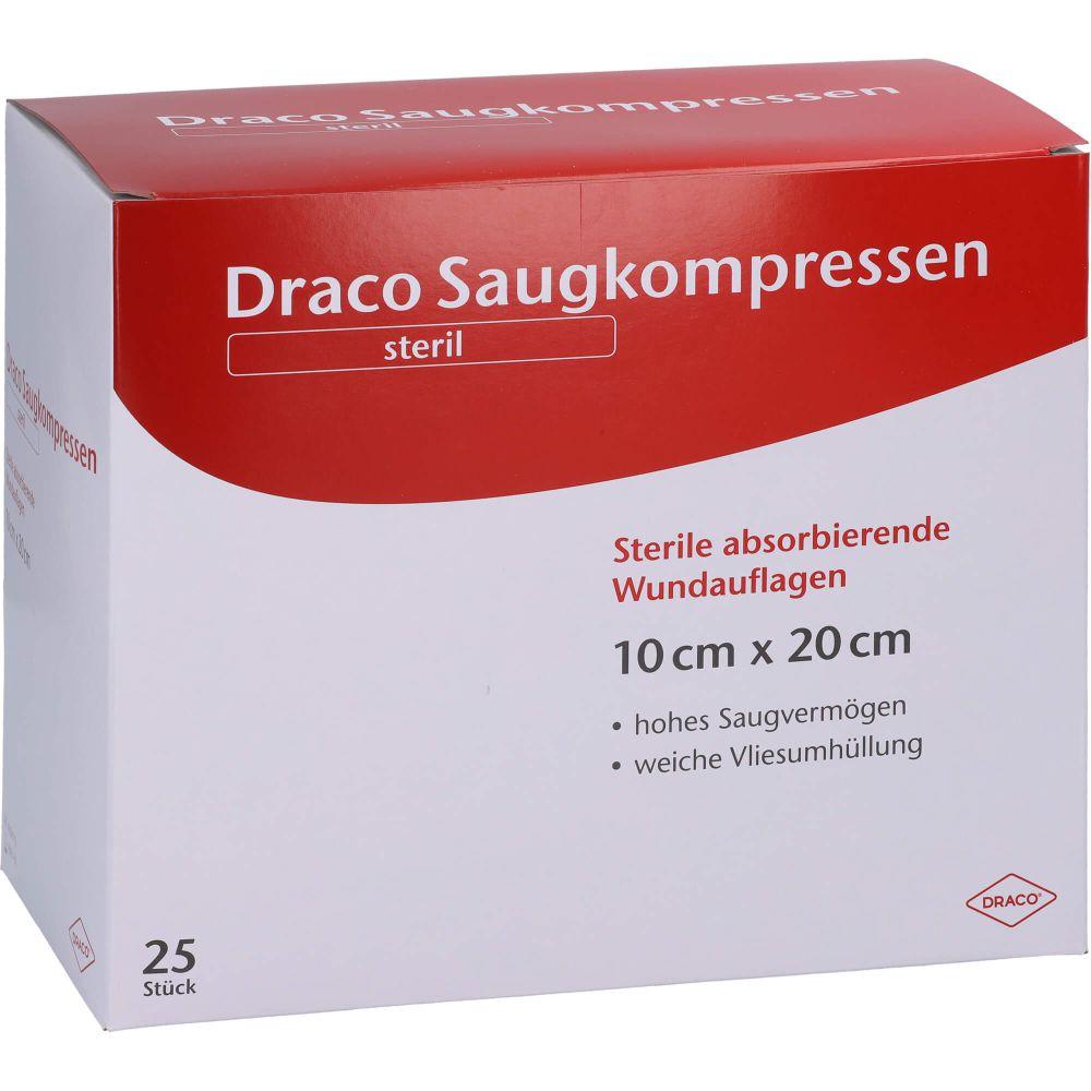 SAUGKOMPRESSEN steril 10x20 cm Draco