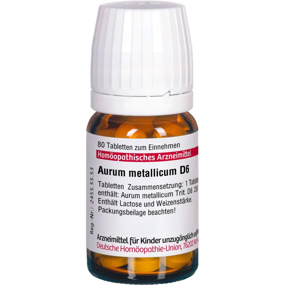 AURUM METALLICUM D 6 Tabletten