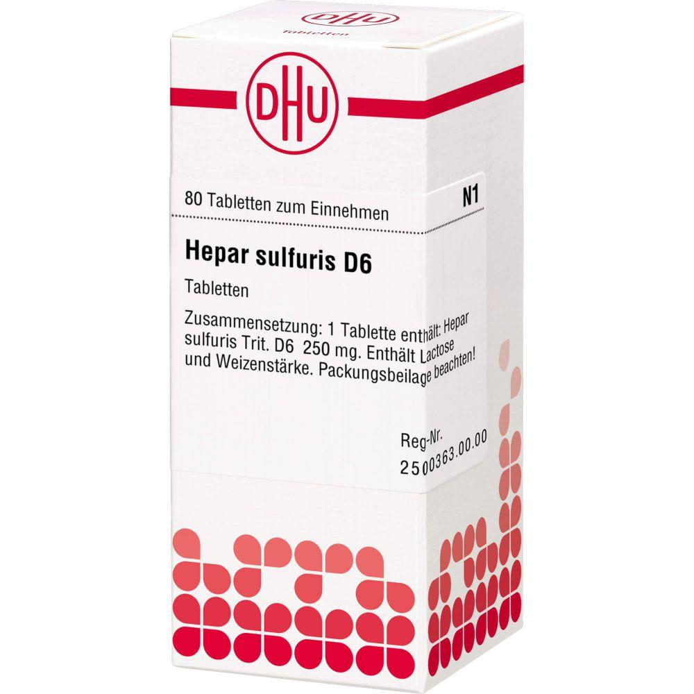 HEPAR SULFURIS D 6 Tabletten
