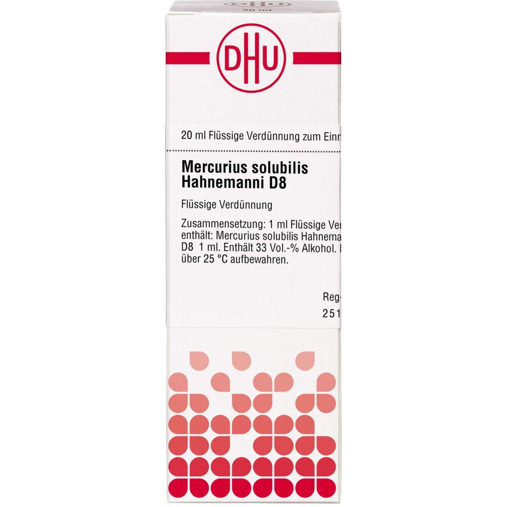 MERCURIUS SOLUBILIS Hahnemanni D 8 Dilution