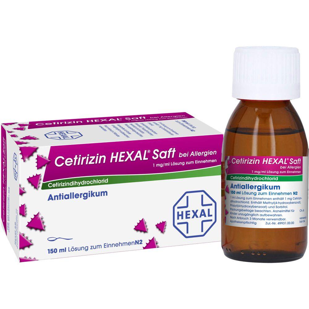 CETIRIZIN HEXAL Saft bei Allergien