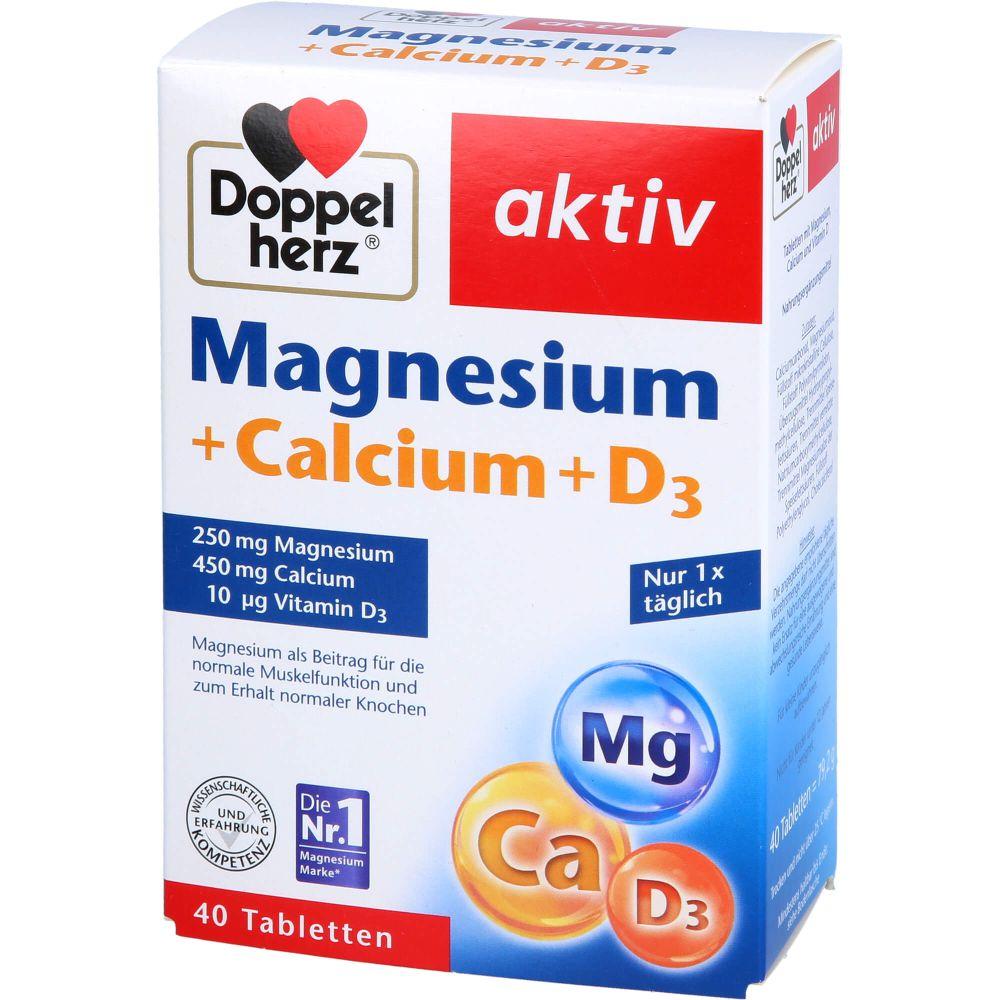 DOPPELHERZ Magnesium+Calcium+D3 Tabletten