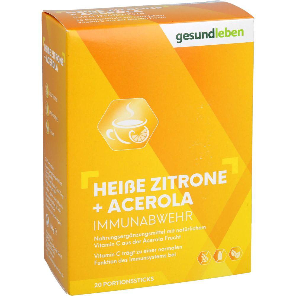 GESUND LEBEN heiße Zitrone+Acerola Pulver