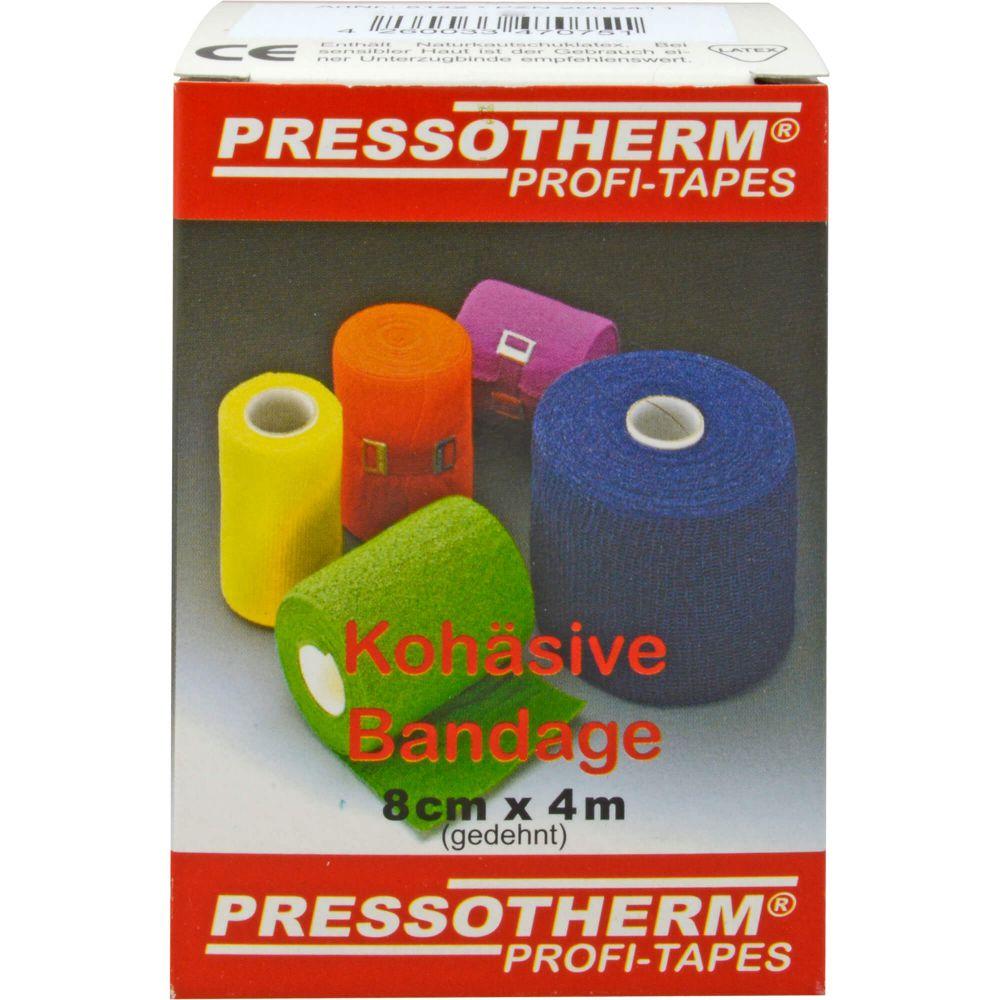PRESSOTHERM Kohäsive Bandage 8 cmx4 m gelb