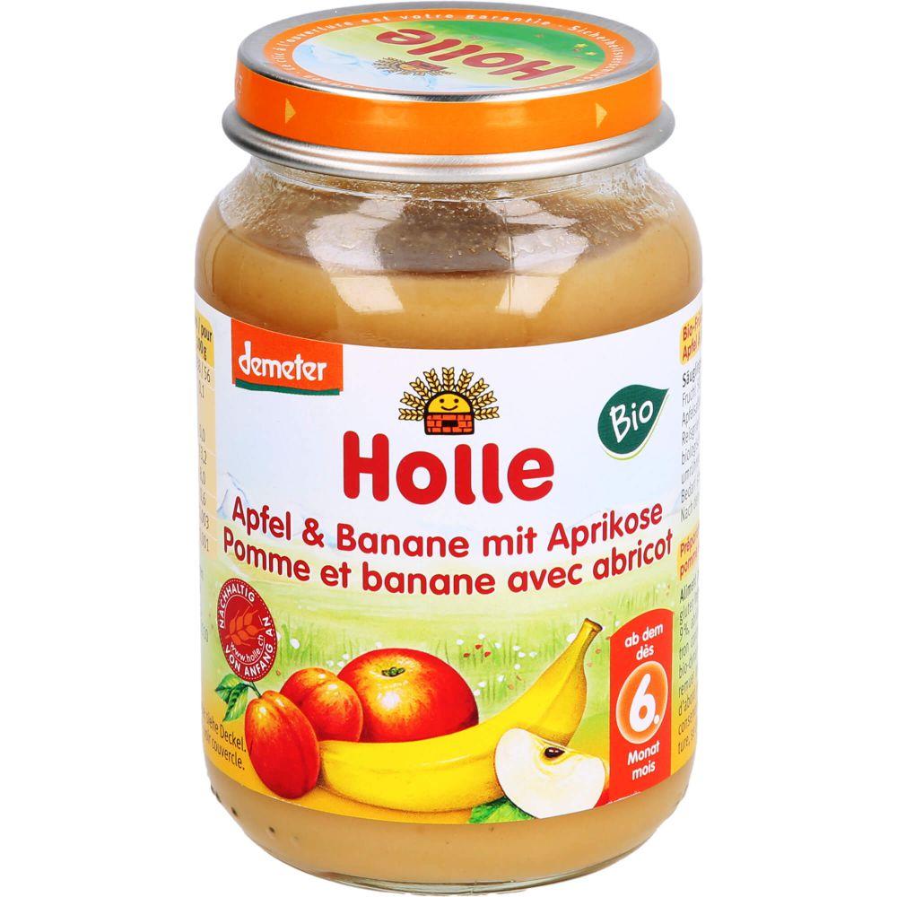 HOLLE Apfel & Banane mit Aprikose