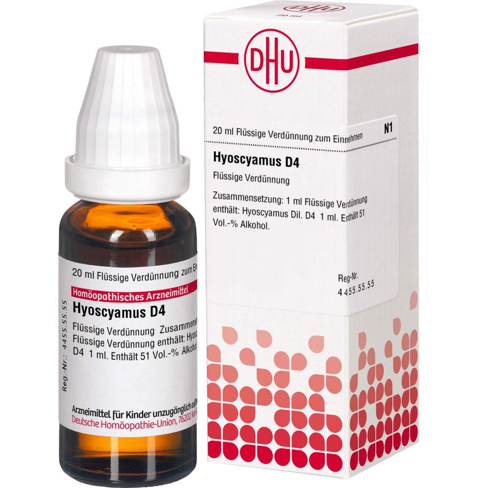 HYOSCYAMUS D 4 Dilution