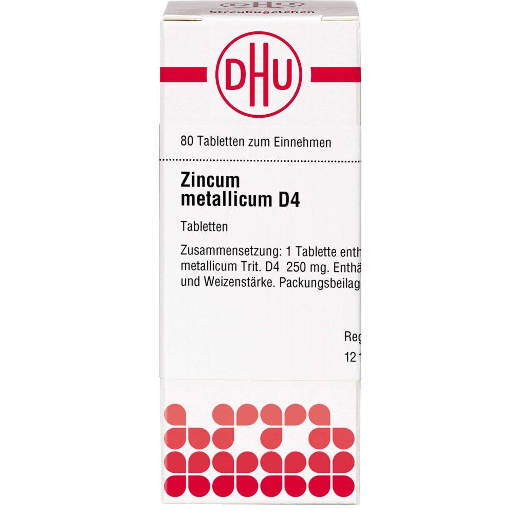 ZINCUM METALLICUM D 4 Tabletten