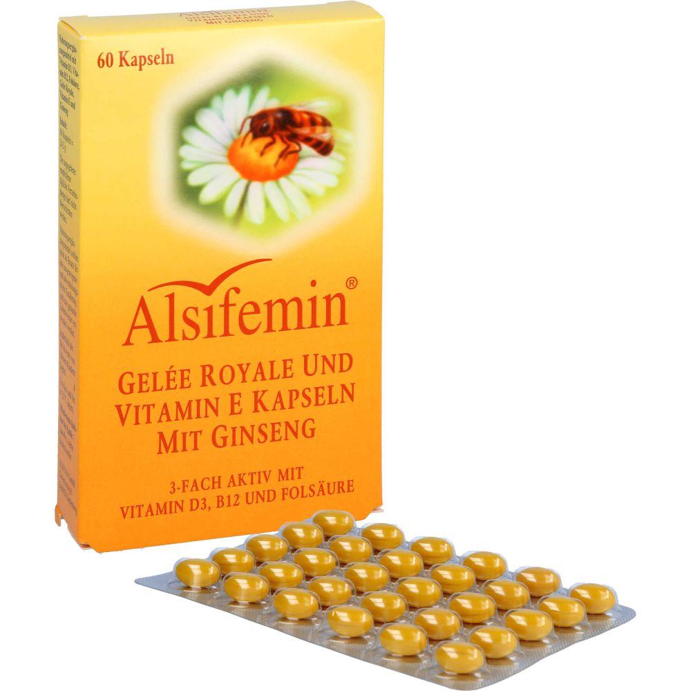 ALSIFEMIN Gelee Royal+Vit.E m.Ginseng Kapseln