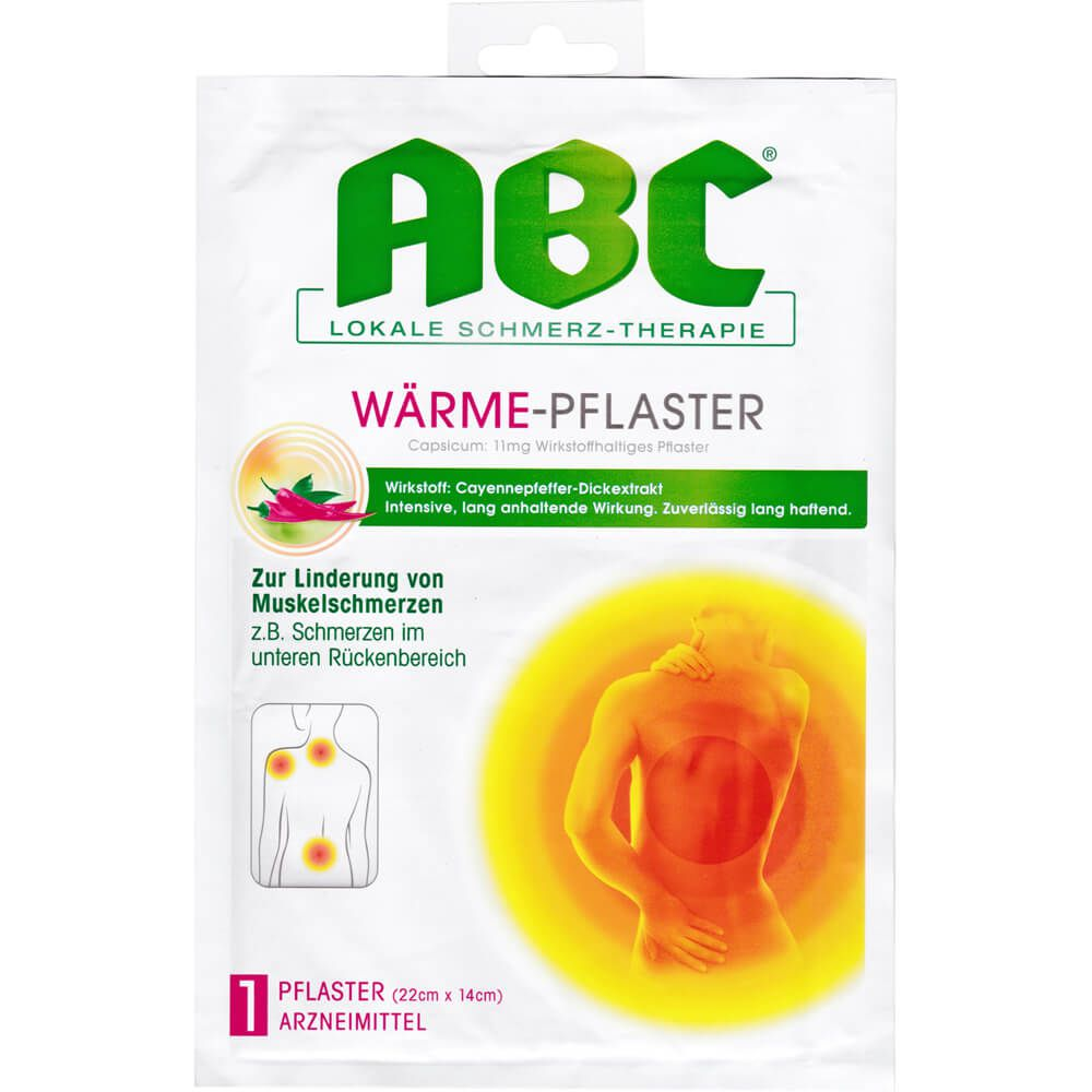 ABC Wärme-Pflaster Capsicum Hansaplast med 14x22